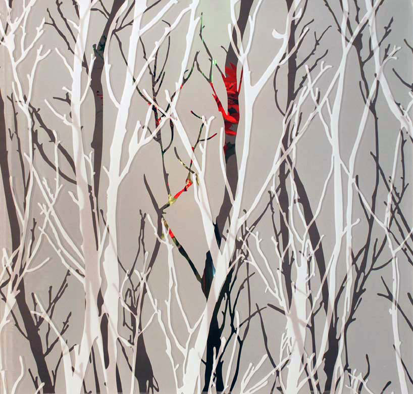 Winter Forest A with Vase