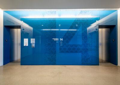 Western Union 14th Floor Elevator Lobby